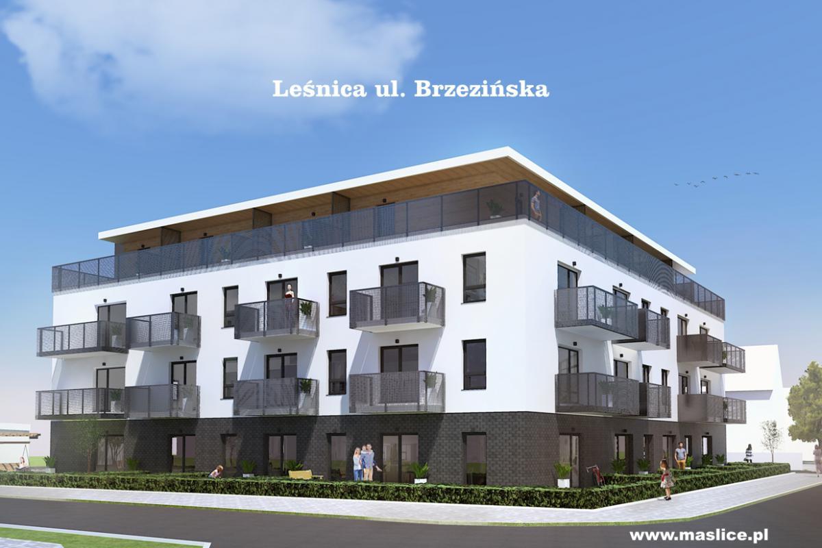 Leśnica, ul. Brzezińska - Wrocław, Leśnica, ul. Brzezińska, Spółdzielnia Budowlano-Mieszkaniowa Maślice - zdjęcie 1