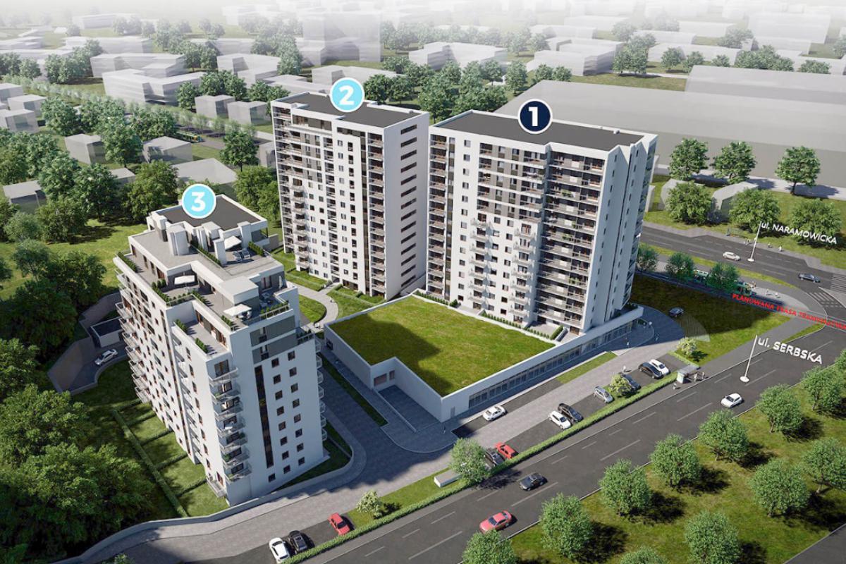 Nowych Kosmonautów - Poznań, Winogrady, ul. Serbska/Naramowicka, Monday Development Sp. z o.o.  - zdjęcie 2