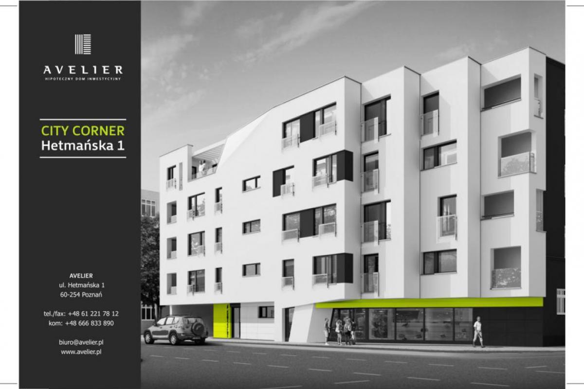 City Corner - Poznań, Stary Grunwald, ul. Hetmańska 1, AVELIER - Hipoteczny Dom Inwestycyjny - zdjęcie 1