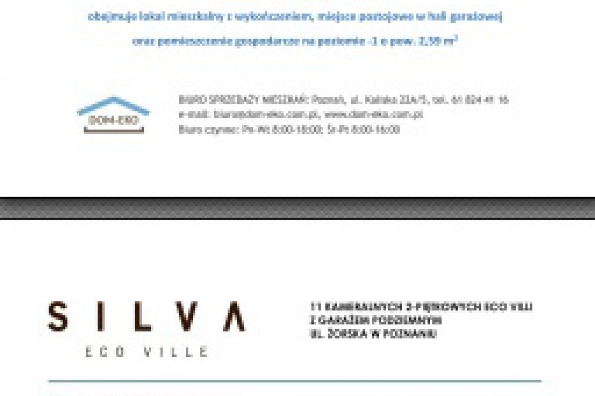 SILVA ECO VILLE - inwestycja wyprzedana - Poznań, Starołęka, ul. Żorska, DOM-EKO Sp. z o.o. - zdjęcie 4