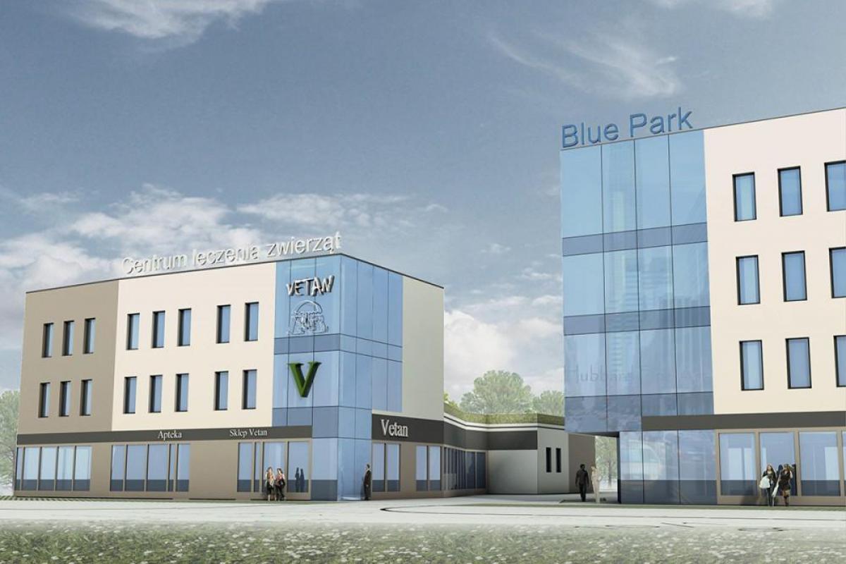Blue Park - budynek mieszkalno-usługowy - Wrocław, Maślice, ul. Królewiecka, MIDAS Group Sp. z o.o. - zdjęcie 1
