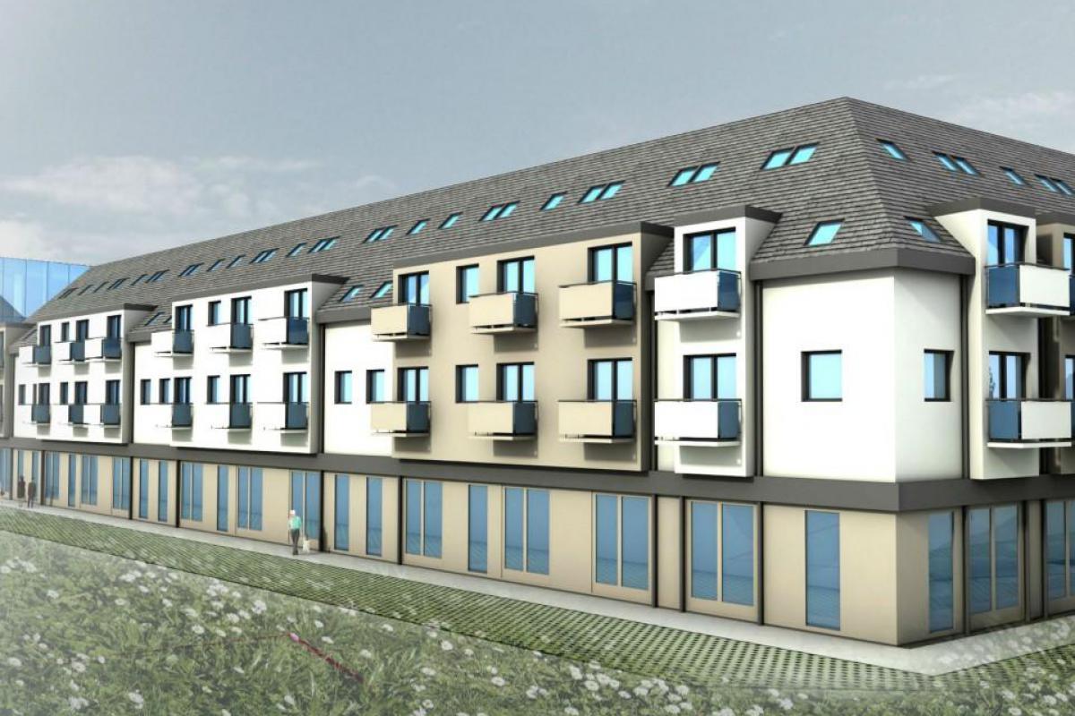 Blue Park - budynek mieszkalno-usługowy - Wrocław, Maślice, ul. Królewiecka, MIDAS Group Sp. z o.o. - zdjęcie 4