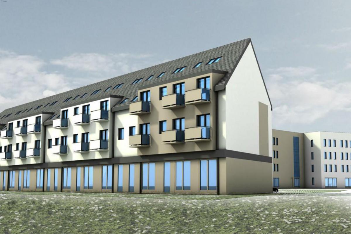 Blue Park - budynek mieszkalno-usługowy - Wrocław, Maślice, ul. Królewiecka, MIDAS Group Sp. z o.o. - zdjęcie 5