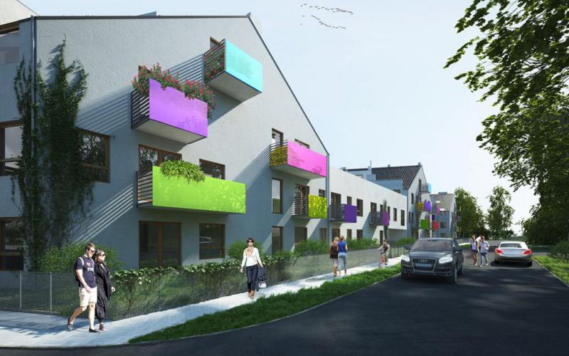 Osada Kolorowa - Wrocław, Maślice, ul. Maślicka, Omega Buildings Sp. z o.o. B Sp.k. - zdjęcie 3