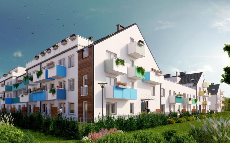 Osada Kolorowa - Wrocław, Maślice, ul. Maślicka, Omega Buildings Sp. z o.o. B Sp.k. - zdjęcie 1
