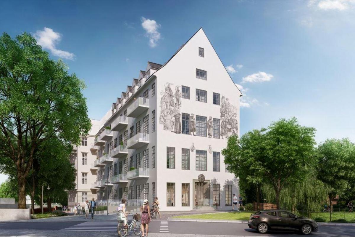Dom z herbem - Wrocław, Nadodrze, pl. Jana Pawła II 8, i2 Development Sp. z o.o. - zdjęcie 1