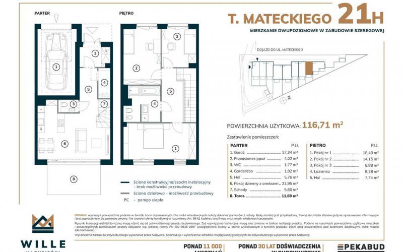 Wille Marysieńki  - Poznań, Piątkowo, ul.Teofila Mateckiego 21 , Pekabud Morasko Inwestycje Sp.z o.o. - zdjęcie 5