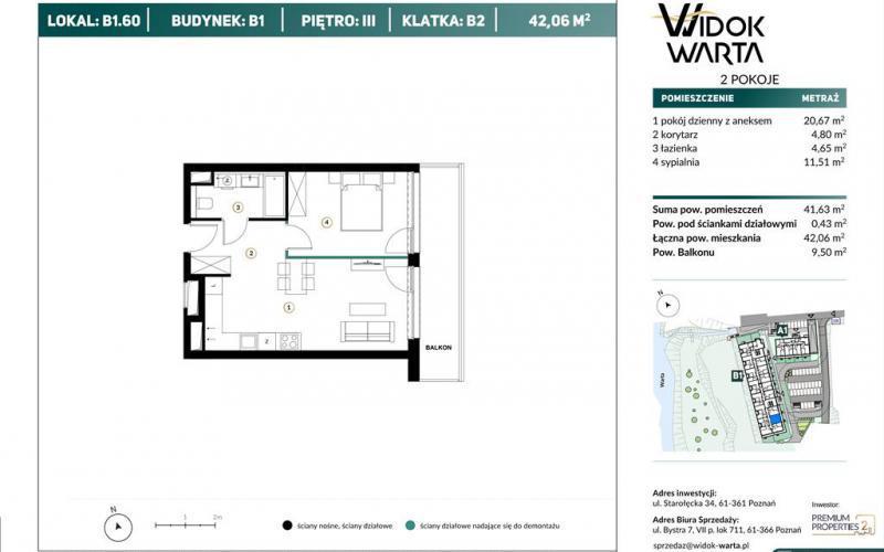 Widok Warta - Poznań, Starołęka, Ul. Starołęcka 34, Premium Properties 2 Spółka z ograniczoną odpowiedzialnością - zdjęcie 7