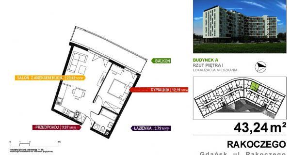W Ultra Mieszkanie - 2 pokoje, powierzchnia 42,60 m2, (27_1) - Mieszkania VP08