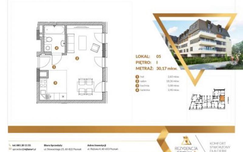 Rezydencja Rejtana 4 - Poznań, Winiary, ul. Rejtana 4, Invest SpecHouse Sp z o.o. Sp. komandytowa  - zdjęcie 4
