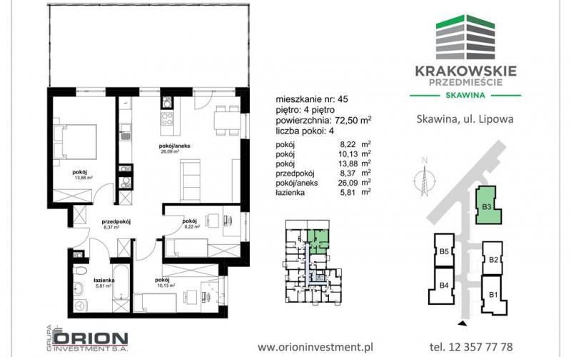 Krakowskie Przedmieście - Skawina, ul. Lipowa 5, ORION INVESTMENT S.A. - zdjęcie 5