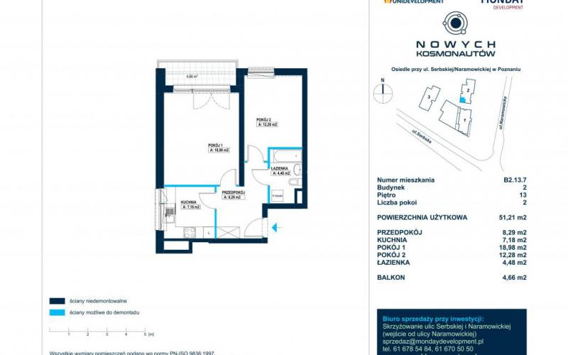 Nowych Kosmonautów - Poznań, Winogrady, ul. Serbska/Naramowicka, Monday Development SA - zdjęcie 14