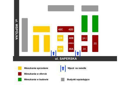Plan osiedla - Pod Platanami