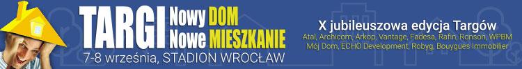 Targi Nowy DOM Nowe MIESZKANIE Wrocław 7-8 września 2019